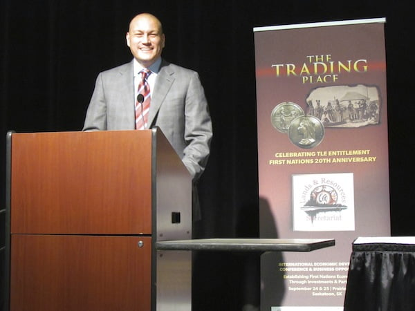 "NCAIED President and CEO delivered the opening keynote address at the 2012 Federation of Saskatchewan Indian Nations ""Trading Place"" Economic Development conference in Saskatoon, Saskatchewan Canada."